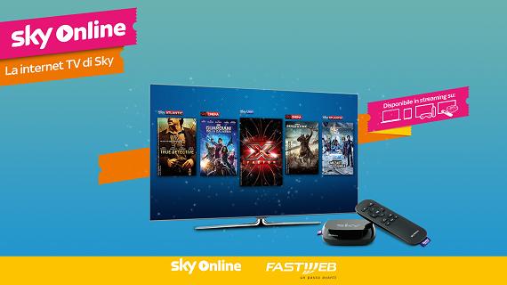 Accordo Fastweb-Sky: saranno inclusi i contenuti di Sky Online e lanciato lo Sky Online Tv Box