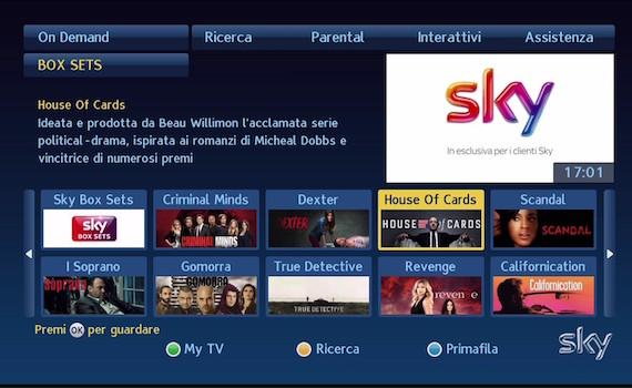Video – Box Sets: la risposta di Sky a Netflix. Dal primo marzo 50 serie complete on demand