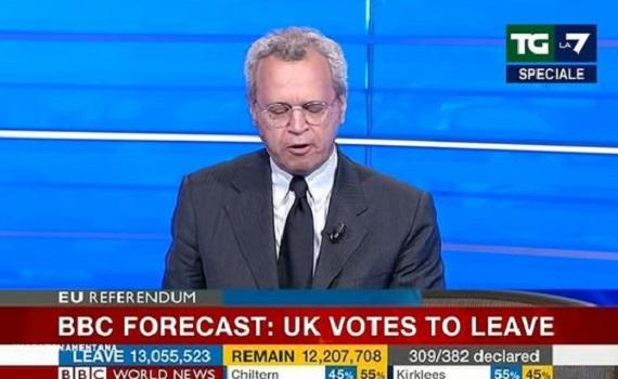 Ascolti Tv analisi 23 giugno: Vespa molla, Mentana annuncia il Leave. RaiNews24 0,44%, TgCom24 0,22% e SkyTg24 0,75%