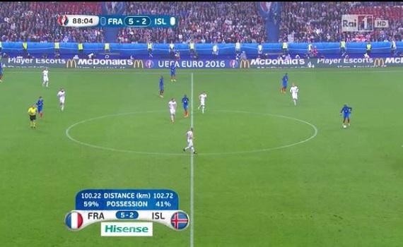 Ascolti Tv 3 luglio tutti i dati: Francia-Islanda 5,2 milioni, Il Segreto 2,8