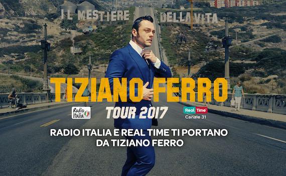 Tiziano Ferro: il 23 maggio in diretta su Real Time e Radio Italia