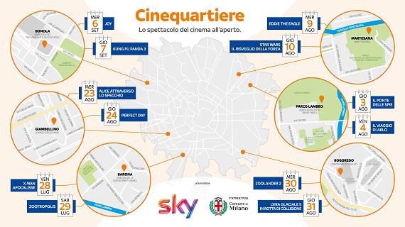 Cinequartiere: Sky inaugura il cinema milanese itinerante