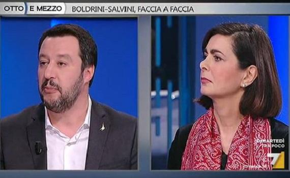 Ascolti Tv analisi 13 febbraio. Principe Libero stacca Marcuzzi. Salvini si scusa con Boldrini e Gruber gode