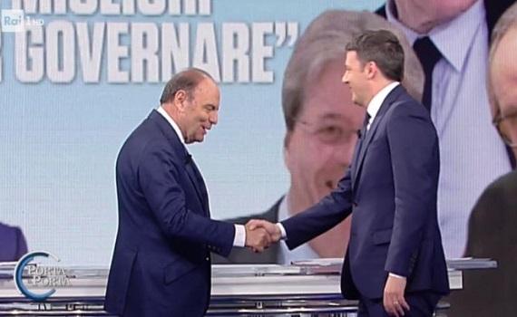 Ascolti Tv analisi 1 febbraio: Don Matteo traina Vespa e Renzi. Formigli batte Santoro e Del Debbio