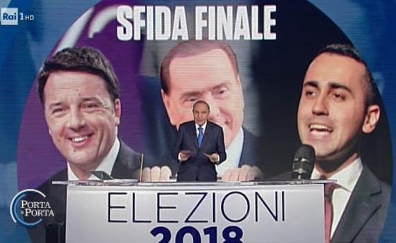 Ascolti Tv 2 marzo tutti i dati: Vespa 3,2 milioni, Immaturi 2,9. Ok Italia1, Rai2, Nuzzi e Crozza