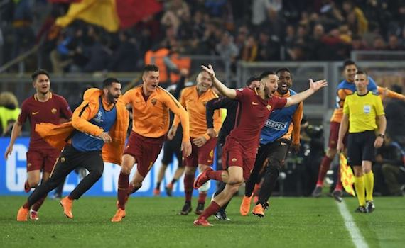 Calcio in tv: la Roma si gioca la Champions su Canale 5, mentre su Tv8 Arsenal-Atletico