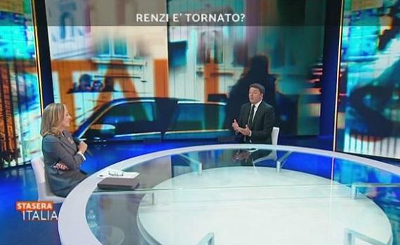 Ascolti tv analisi 3 settembre: Renzi battezza Palombelli. Ok Timperi, Iacona e Pardo