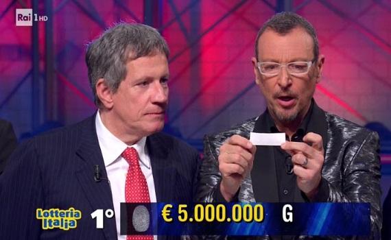 Ascolti Tv 6 gennaio tutti i dati: I Soliti Ignoti-Lotteria boom a 5,2 milioni, Cenerentola 2,5, Jurassic World 1,9. Ok Giletti