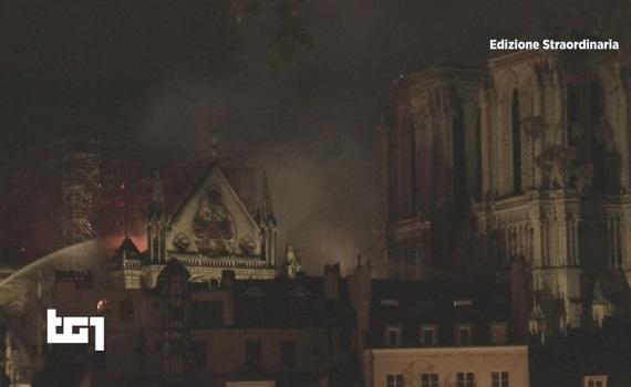 Ascolti Tv 15 aprile tutti i dati: Speciale Tg1 su Notre Dame 4,3 milioni, GF 2,8, Made in Sud 1,9, Report 1,4