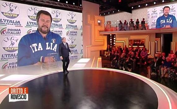 Ascolti tv analisi 9 maggio: Puccini strapazza Dwayne Johnson. Vola l'Europa League, Del Debbio schiera Di Maio e Salvini
