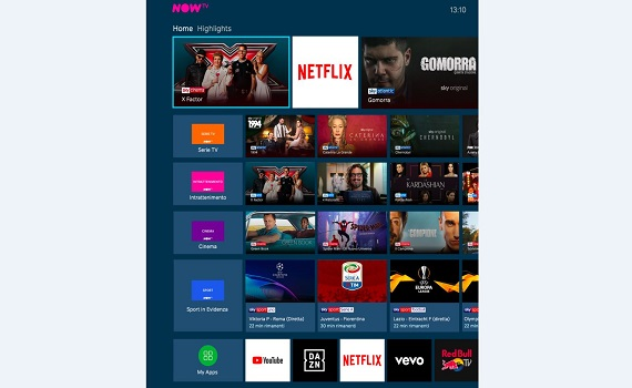 La tv si allarga: l'app Netflix arriva su NOW TV Smart Stick