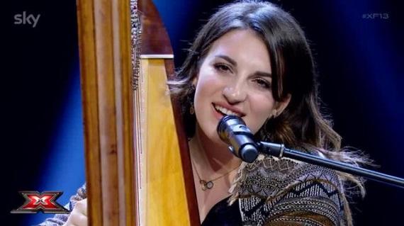Giordana Petralia, X-Factor 13: Difendo la mia arpa e tifo Sofia