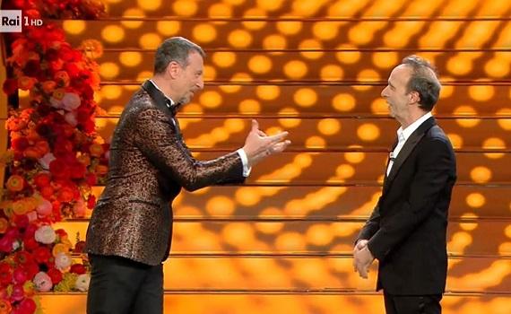 Ascolti Tv 6 febbraio tutti i dati: boom share di Sanremo70, Sconnessi vince tra i film, Del Debbio sprinta su Formigli
