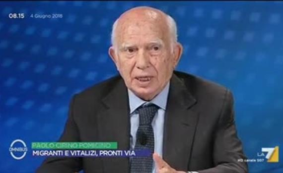 Paolo Cirino Pomicino a testa bassa contro La7