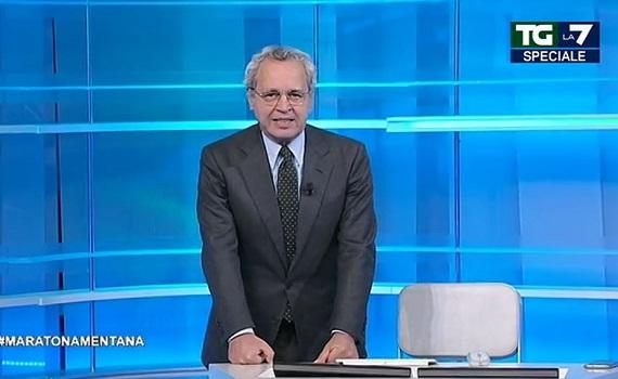 """Ascolti tv analisi 19 gennaio: Rai1 presidia la crisi, ma non brilla. Tra i """"mandanti"""" di Renzi anche Mentana, Gruber e Floris? Rete4 marca stretto La7, ma perde"""