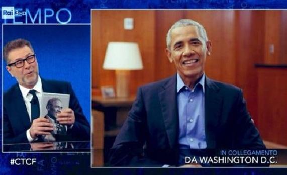 Ascolti Tv 7 Febbraio analisi: Mina Settembre non sussulta neanche per Obama. Fazio fa il 15,7% con l'ex presidente in onda e atterra D'Urso e Giletti