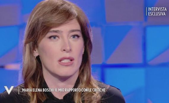 Selvaggia Lucarelli sbrana Maria Elena Boschi