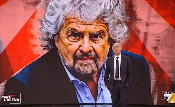 Ascolti Tv 25 aprile: Valle/Boni-Bonolis 2-1, ma vanno giù entrambi. Giletti punta i fari su Ciro e Beppe Grillo e rimonta Fazio