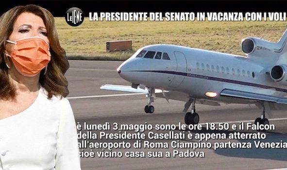 Le Iene: Mediaset censura il servizio sui voli di Stato della Casellati