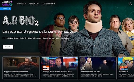 Mediaset Infinity: l'app per guardare la Champions Legaue