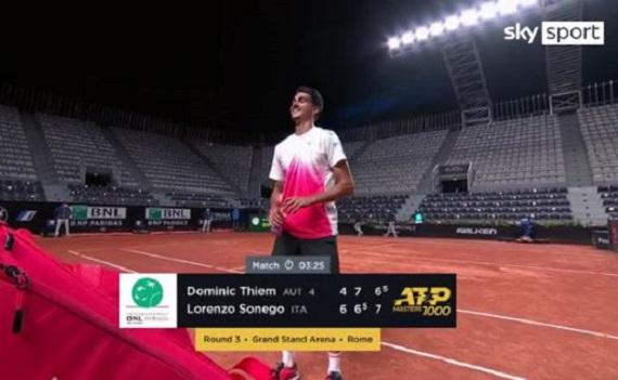 Ascolti tv 13 maggio digital e pay: il tennis batte il calcio su Sky, Sonego-Thiem meglio del posticipo moscio. Rai4 batte Nove