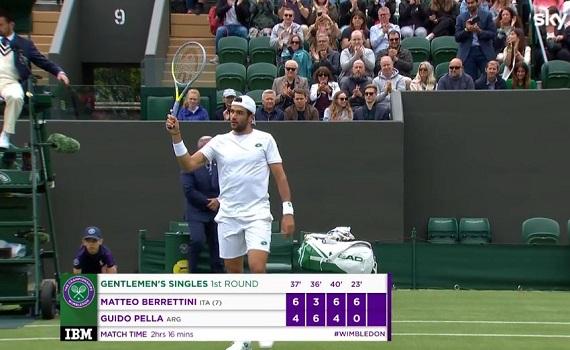 Ascolti tv 30 giugno digital e pay: Wimbledon al top con Matteo Berrettini, il Tour con Tadej Pogacar. Tataranni batte Sommi, Scanzi e Travaglio