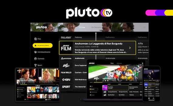 Tutto pronto per Pluto Tv, la tv in streaming gratis e lineare
