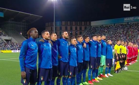 Ascolti tv 8 settembre 2021: l'Italia stravince contro la Lituania e in Auditel